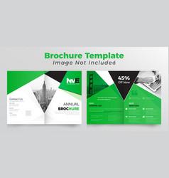 Abstract bifold business brochure design vector