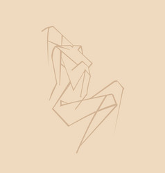 abstract drawing a beautiful woman vector image