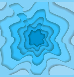 Abstract wavy square blue paper cut background vector