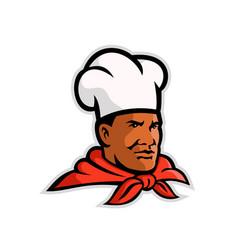 African american chef baker mascot vector