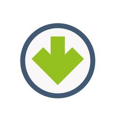 Arrow interface web icon vector