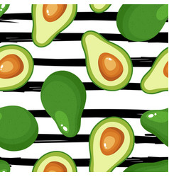 avocado print seamless pattern for textiles vector image