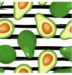 Avocado print seamless pattern for textiles vector