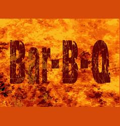 Bar bq flames vector