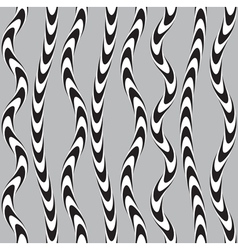 Black and White Twisted Ribbon Seamless Pattern vector