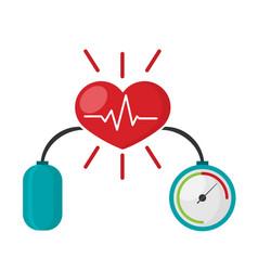 Blood pressure concept with blood pressure meter vector