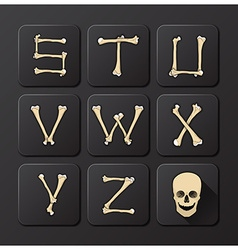 Bones Alphabets Set 3 vector image