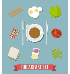 Breakfast small set vector image