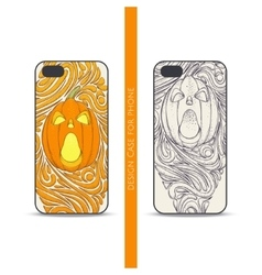 Case for Phone Pumpkin One vector image