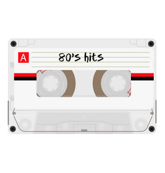 cassette with retro label as vintage object vector image