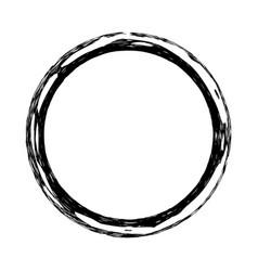 Circle grunge stamp vector
