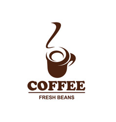 Coffe cup icon for coffeeshop cafe design vector