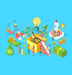 crowdfunding money icons set vector image