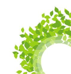Design element with leaves vector image