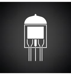 Electronic vacuum tube icon vector