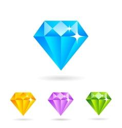 Flat diamonds vector image