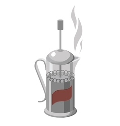 french press isolated on vector image