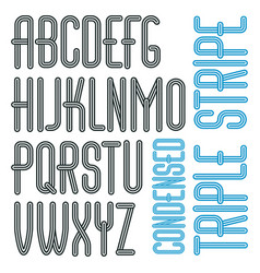 Funky capital english alphabet letters collection vector