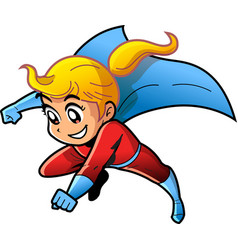 girl female superhero cartoon anime manga clipart vector image