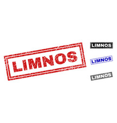 grunge limnos textured rectangle watermarks vector image
