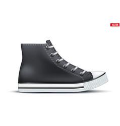 High top canvas sneaker mockup vector