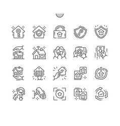 home security well-crafted pixel perfect vector image