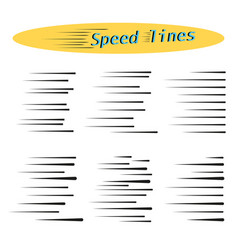 horizontal lines speed movement black vector image