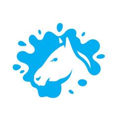 horse milk sign vector image
