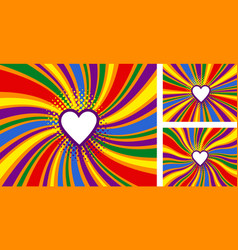 Lgbt rainbow pride flag free love concept vector