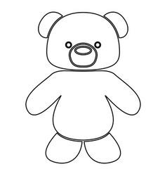 Little bear black color path icon vector