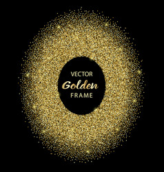 luxury golden glitter oval frame vector image