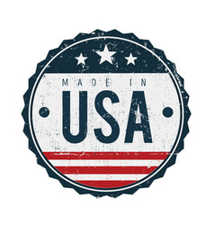 Made in usa vintage badge seal vector