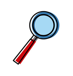 Magnifying glass symbol vector