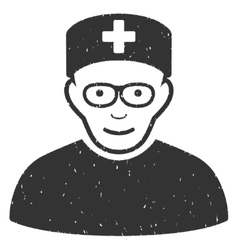 Medical Specialist Grainy Texture Icon vector