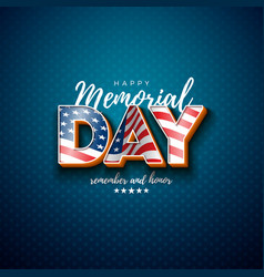 Memorial day usa design template vector