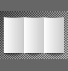 Mockup booklet postcard flyer trifold or vector