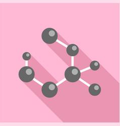 molecule formula icon flat style vector image