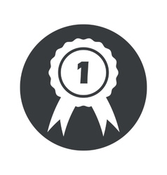 Monochrome round 1st place icon vector image