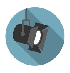 Movie spotlight flat icon vector