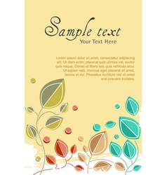 natural card vector image