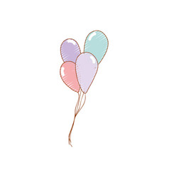 Nice balloon to decorate party vector