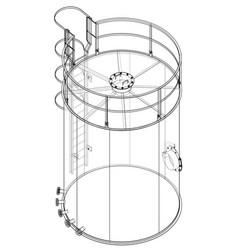 oil tank outline rendering of 3d vector image