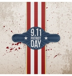 Patriot Day realistic patriotic Tag Template vector