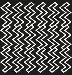 Pattern of geometric figures in zig zag vector