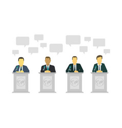 Political discussion dialogue of politicians vector