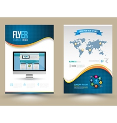 Poster Templates with website on computer Template vector