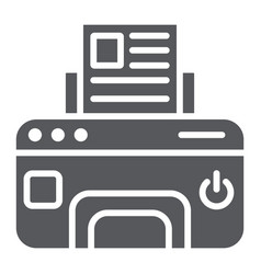 printer glyph icon device and print fax sign vector image