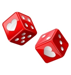 red dice vector image