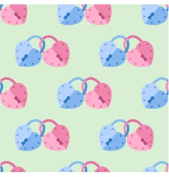 Seamless pattern from padlock couple heart shape vector