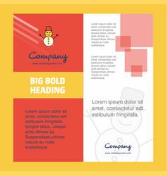 snowman company brochure title page design vector image